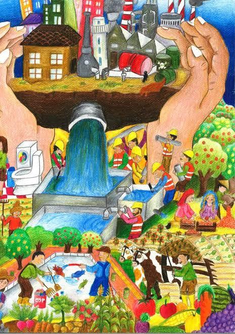22 Mart Dünya Su Günü En Güzel Resim Yarışması Çizimleri