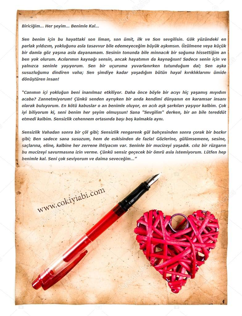 sevgiliye etkileyici aşk mektubları