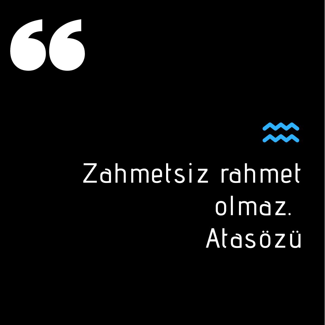 Zahmet ile ilgili güzel sözler