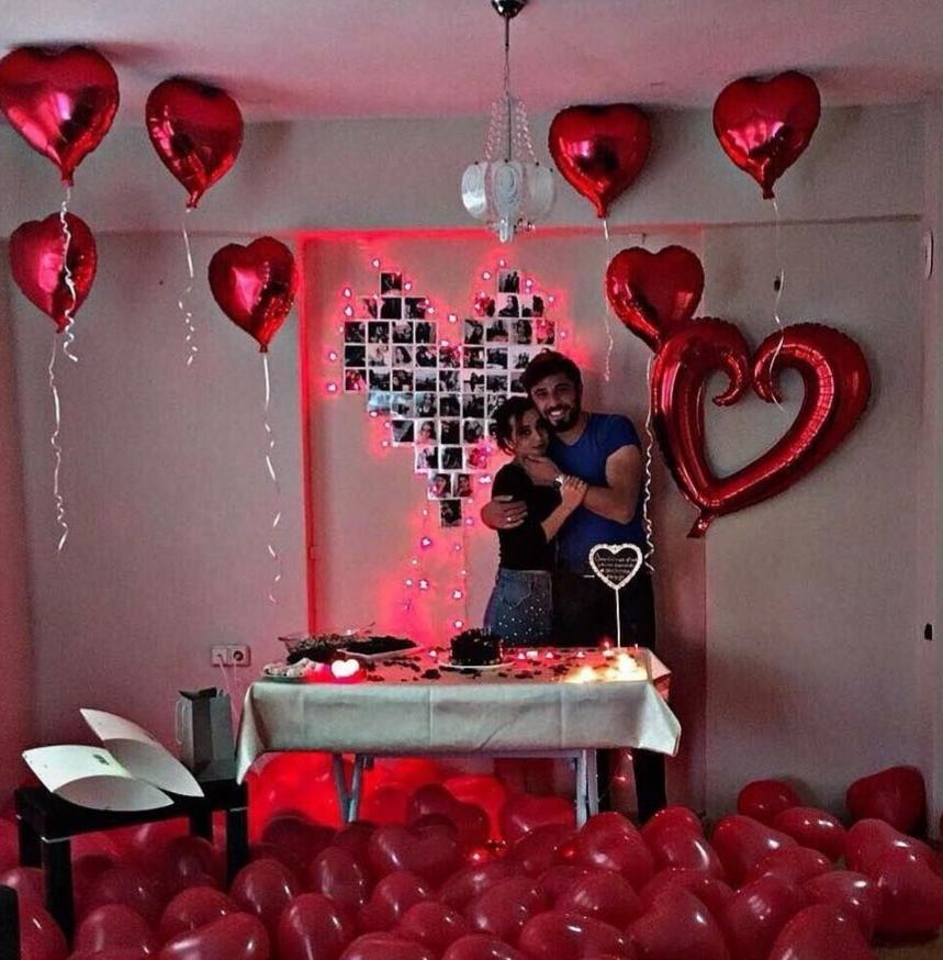 14 Şubat Sevgililer Gününe Özel romantik yemek masası