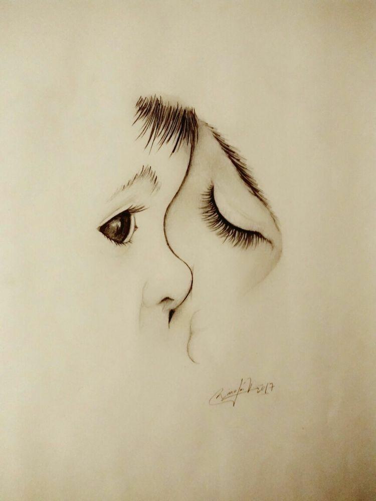 Karakalem Adım Adım Göz çizimleri Gerçekçi Ve Renkli Güzel Sözler