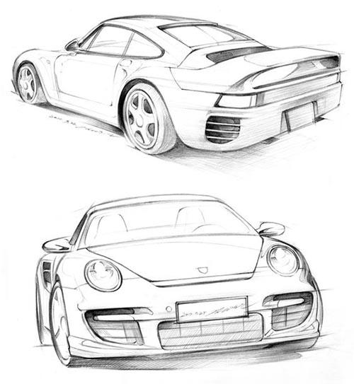 eskiz spor araba çizimleri