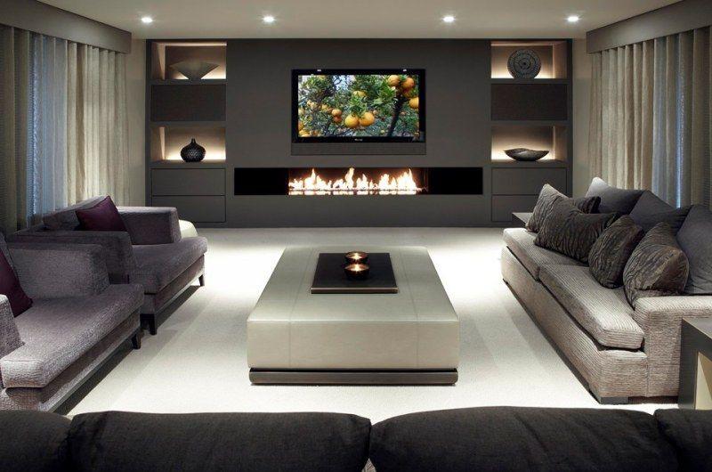55 Etkileyici Tv Şömine Tasarım Dekorasyon Fikirleri
