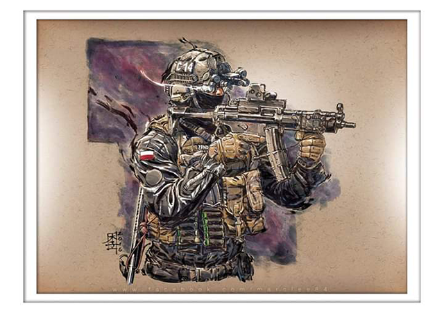Kara Kalem Asker Çizimleri 2