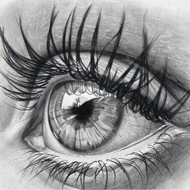 kirpikli bayan göz çizimleri