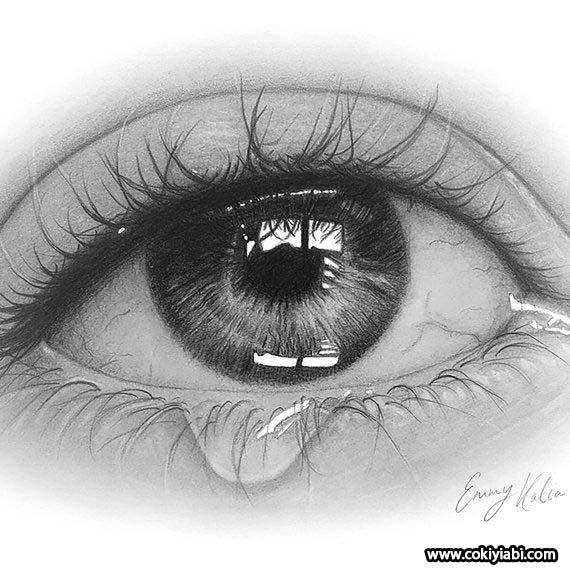 ağlayan göz çizimi