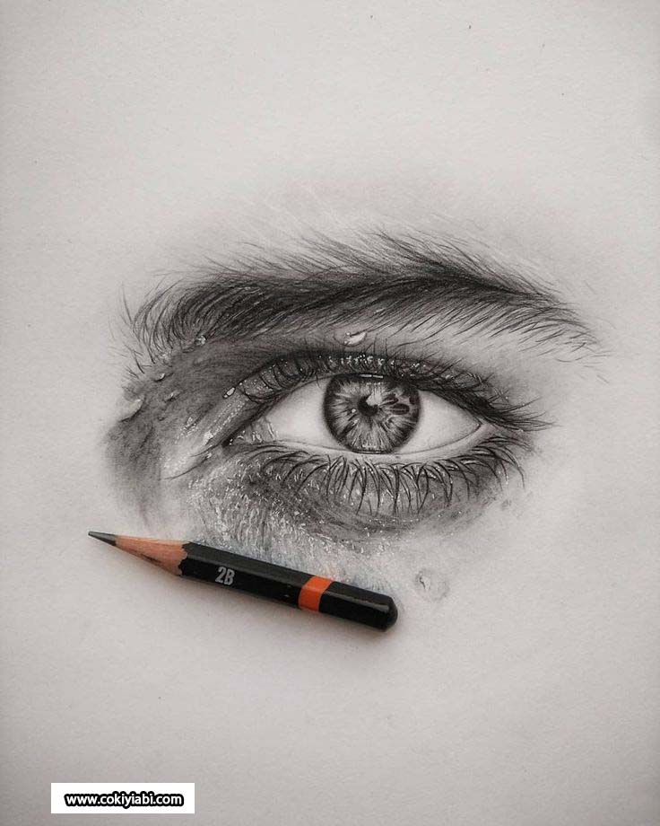 karakalem gerçekci göz çizimleri