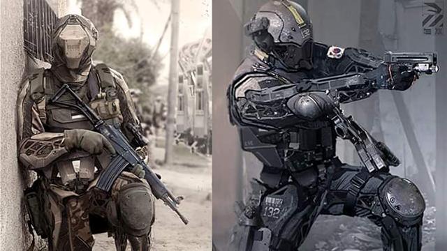 Gelecekteki Ordular Ve Asker Çizimleri