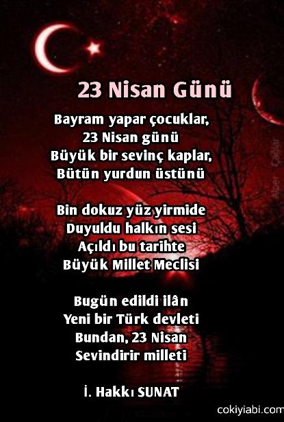 23 nisan şiiri paylaş