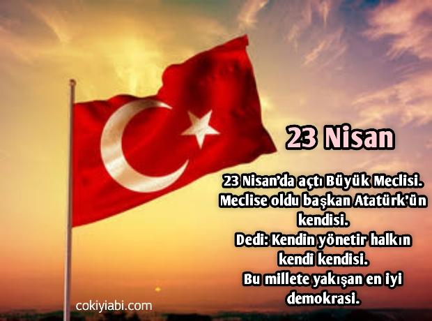 23 nisan kısa şiir