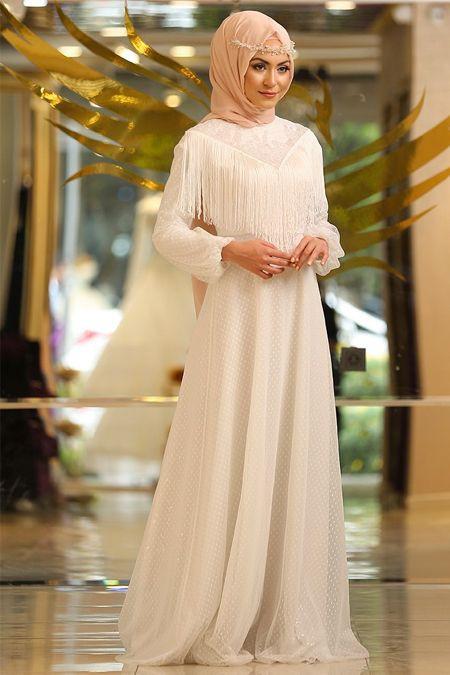b9a56d35fb0b6 beyaz-tesettur-abiye-elbise-modelleri- Güzel Sözler