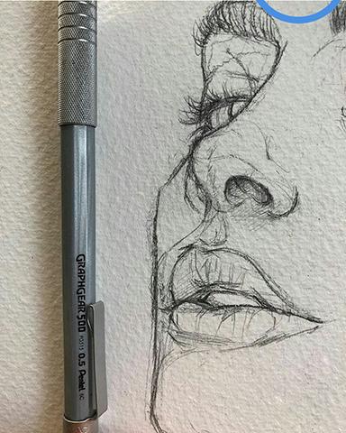 Karakalem İle Göz Ağız Ve Burun Çizim Teknikleri