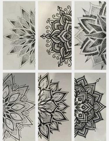 karakalem motifler