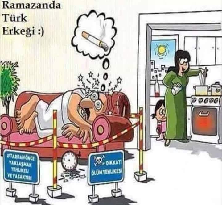 Ramazan sigara tiryakisini anlatan resimler