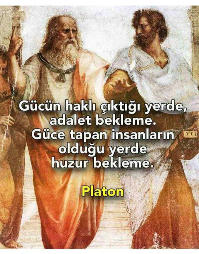 Platon güce tapan insanlar ile ilgili sözleri