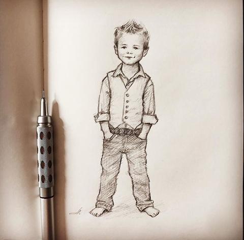 Karakalem Çocuk Çizimleri