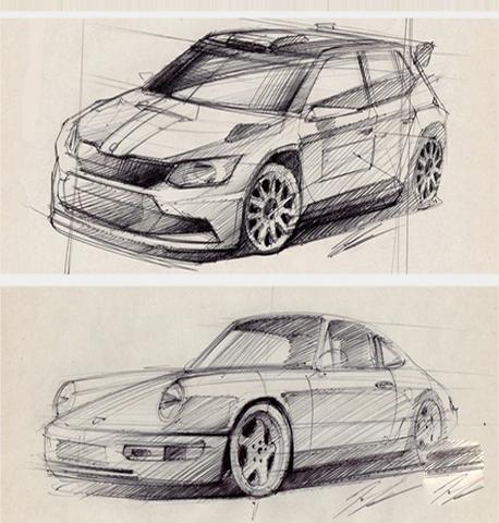 Karakalem Yeni Araba Çizimleri