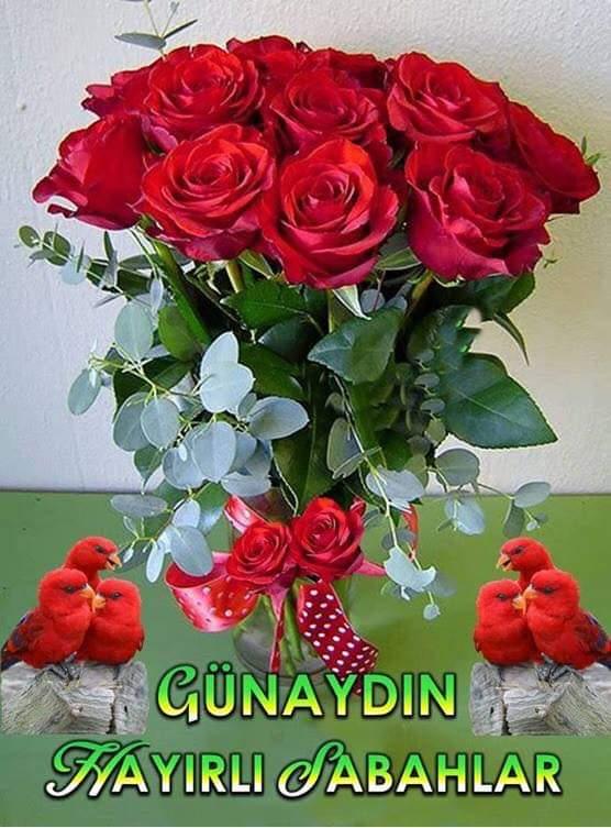 Vazo güller günaydın mesajları