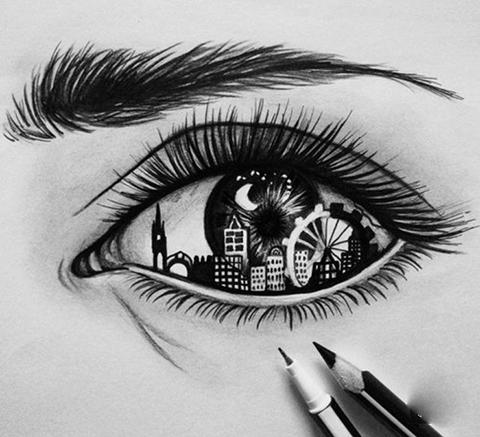 Karakalem Göz Cizimleri (En Yeniler)