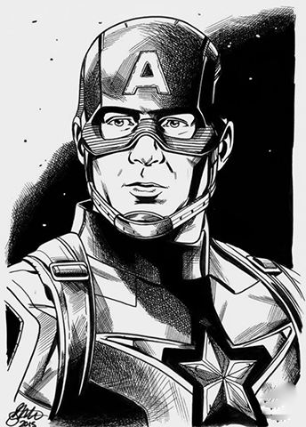 Karakalem Marvel Çizimleri