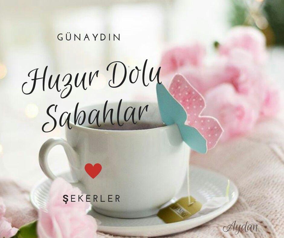 Fincanlı çiçekli günaydın mesajları