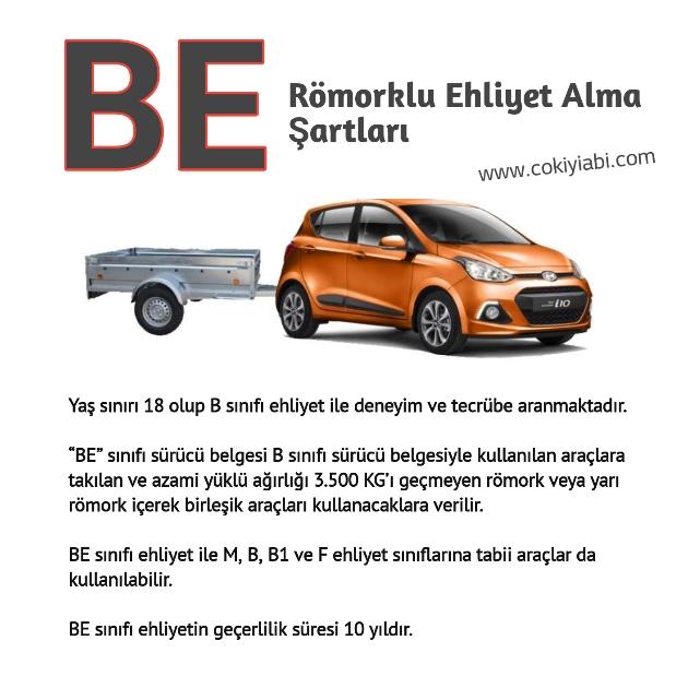 BE Römork Ehliyeti Hangi Araçları Kullanır 2019