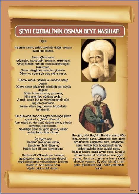 Şeyh Edeb-Ali'nin Osman Gazi'ye Nasihatı