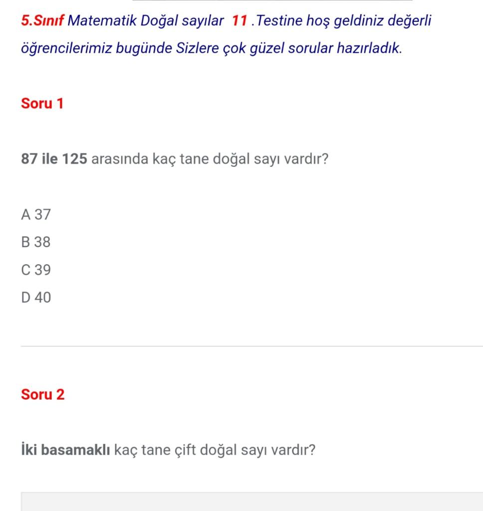 5.Sınıf Doğal Sayılar Testleri (11)