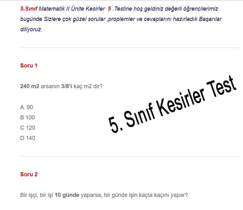 5.Sınıf Kesir Proplemleri (6)