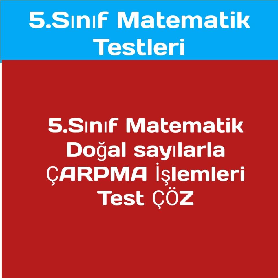 5.sınıf Matematiktestleri
