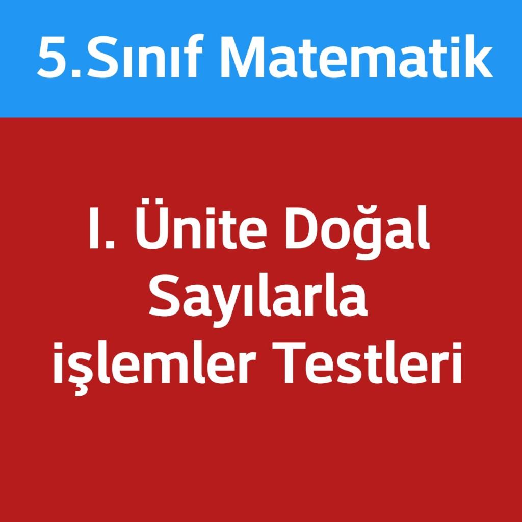 Matematik 5.sınıf doğal sayılar işlemler test