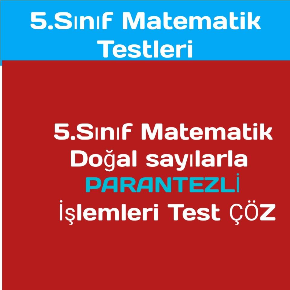 5.sınıf Matematik Testleri