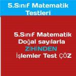 5.sınıf Matematik testleri çöz