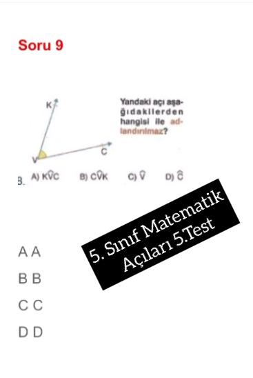 5. Sınıf Matematik Açıları 5.Test