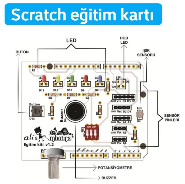 Scratch eğitim kartı hakkında bilgiler
