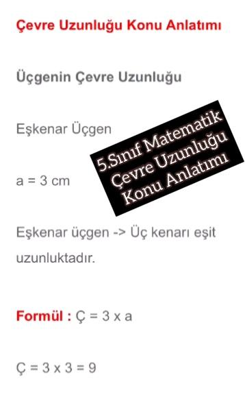 5.Sınıf Matematik Çevre Uzunluğu Konu Anlatımı
