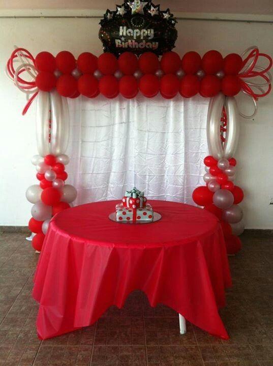 Doğum Günü kırmızı balonlu süsleme fikirleri