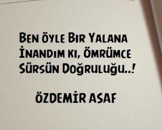 Özdemir Asaf Resimli Sözleri