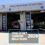 Taksi muayene ücreti 2020
