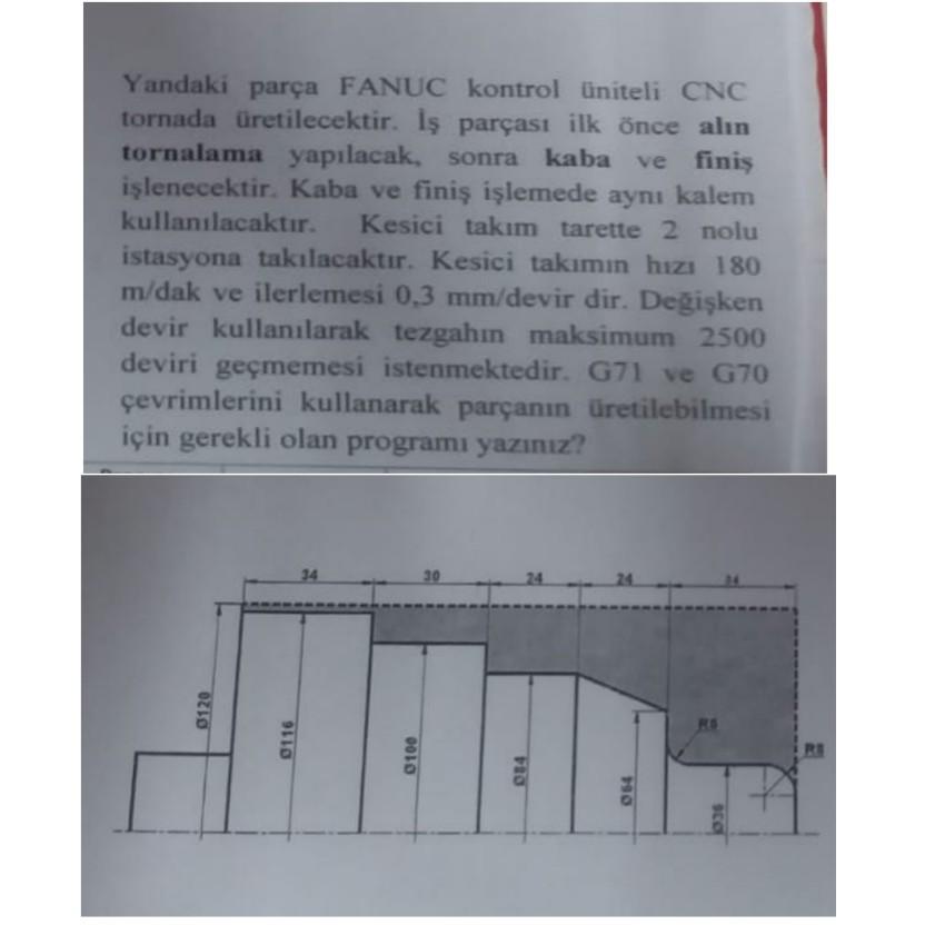 Cnc torna program örnekleri
