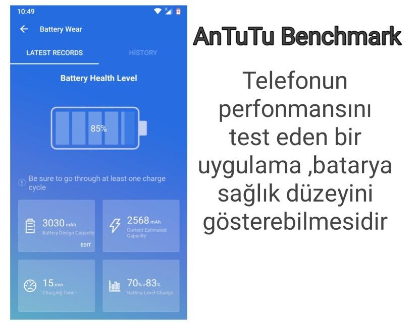 Antutu benchmark batarya test programı