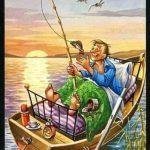 Kayık üstünde balık tutma resimleri