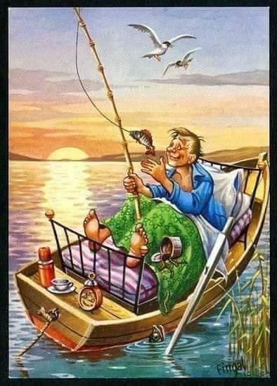 Balık Tutmayı Çok  Sevdiğini Anlatan Resimler