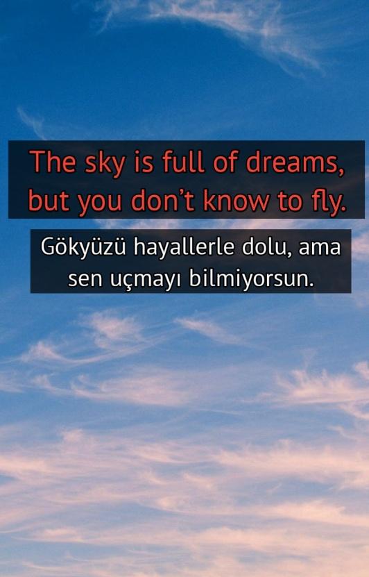 Gökyüzü ile ilgili ingilizce ,Türkçe Sözler