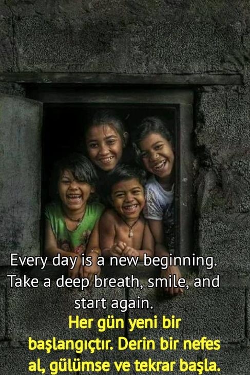 Gülümsemek ingilizce Sözler resimli