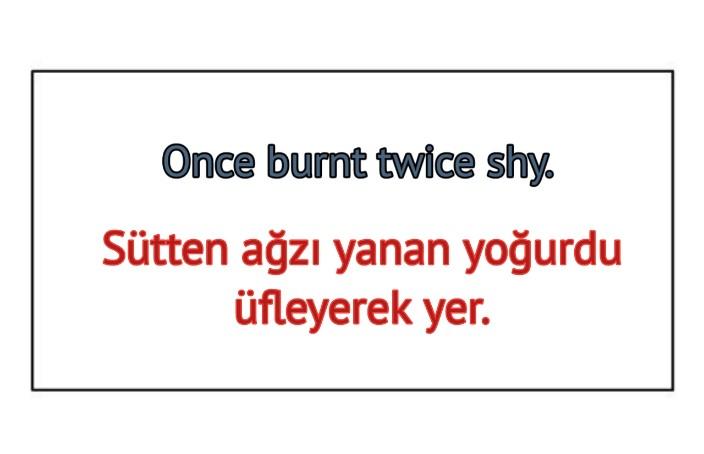 ingilizce Türkçe Çevirili atasözleri