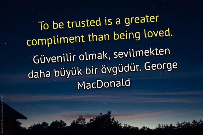 Güvenilir olmakla ilgili sözler ingilizce Türkçe Çevirili