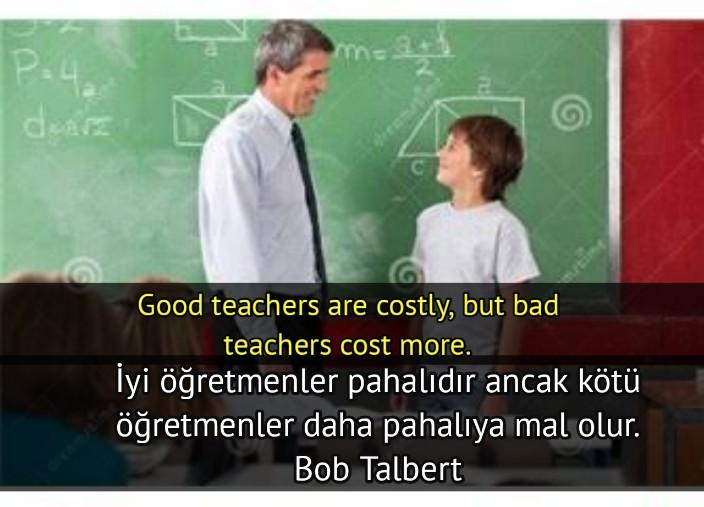 ingilizce -Türkçe Öğretmen ile ilgili Anlamlı Sözler
