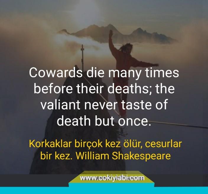 ingilizce Türkçe Çevirili ölüm ile ilgili anlamlı sözler