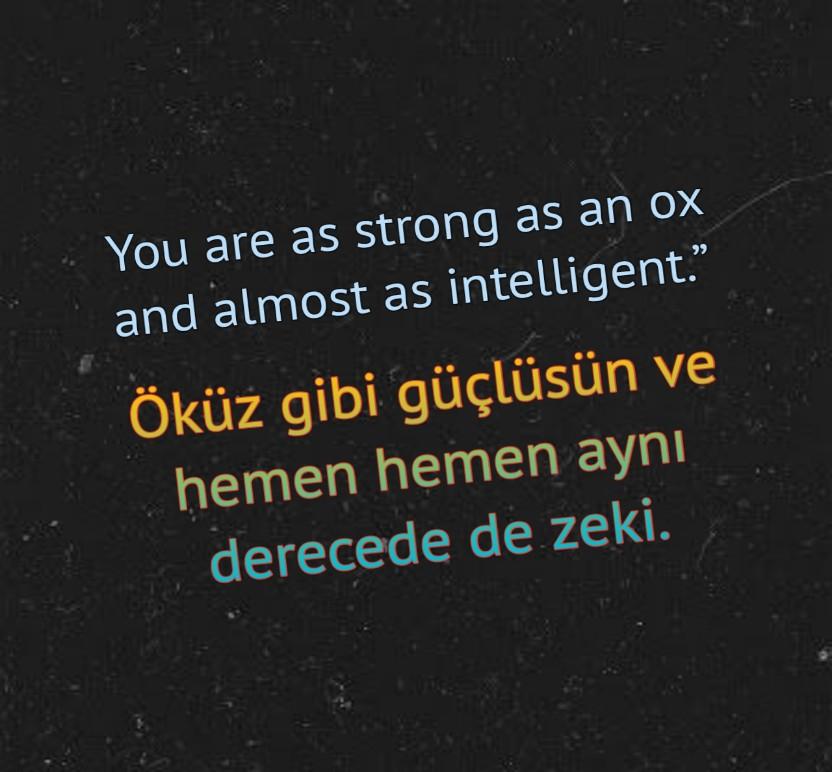 İngilizce türkçe KAPAK mesajlar
